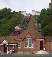 Folkestone Cliff Lift from lower station.