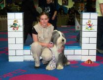 Jenna Zwally und ihr Hund Filou Teilnehmer an der Junior Championship 16-19 Juli 2009 in Ungarn