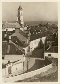 Vilnius. Šv. Augustino bažnyčia. Foto Jano Bulhako. 1938m. / St. Augustine's Church. Photo J.Bulhak