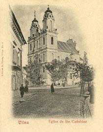 Šv. Kotrynos bažnyčia. Leid. D. Visunas No.8 / St. Catherine's Church. Publisher D. Visunas