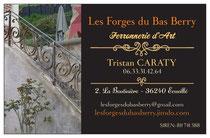 Carte De Visite Tristan Caraty Les Forges Du Bas Berry