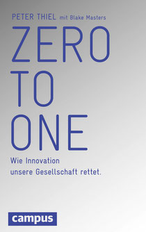 "Cover ""Zero to One"", Campus-Verlag"