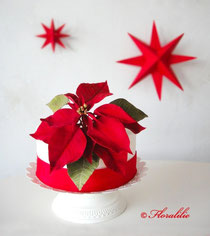 Poinsetta Cake by Floralilie
