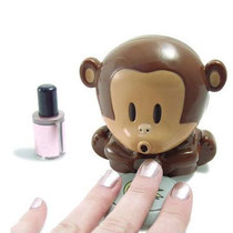 kids nail dryer, nail dryer, monkey nail dryer, kids manicure set