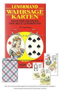 Wahrsagekarten *Carta Mundi* nach der Methode von Mlle Lenormand Orakel Karten