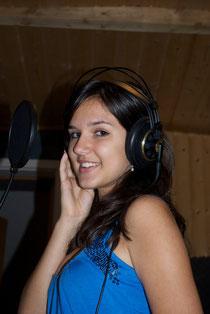 Cindy bei der Aufnahme