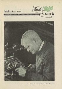 Erste Ausgabe der Kienzle-Blätter, Weihnachten 1951