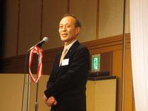 祝賀会で挨拶をされる宮地実行委員長