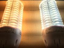 LEDコーンライト(電球色と蛍光色)