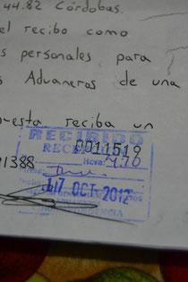 Con el número de folio oficial para poder darle seguimiento