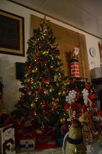 La casa esta totalmente adornada para la Navidad