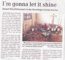Zeitungsartikel vom 23.3.11 im Schaufenster Blickpunkt