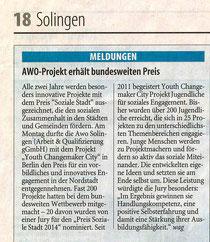 Bericht vom Solinger Tageblatt