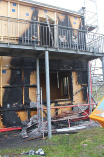Das Haus wurde erneut erheblich zerstört