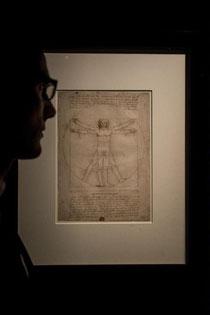 OmoGirando la mostra Lenoardo da Vinci 1452-1519 - L'Uomo Vitruviano