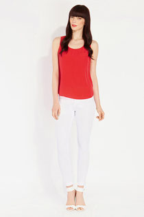 Oasis Red Woven Vest