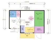 3×2m 省スペース型無菌調剤室 見取り図