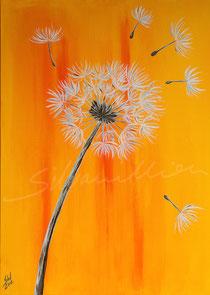 Pusteblume, Acrylbild silvanillion