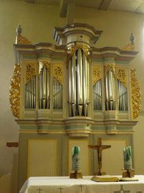 Orgel in Bergfreiheit, Prospekt