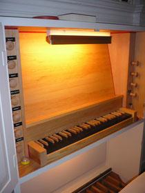 Orgel in Böhne, Spieltisch