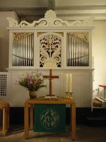 Orgel in Albertshausen, Prospekt
