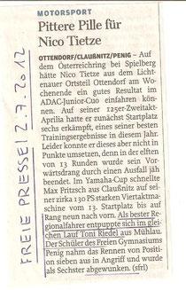 Nico Tietze, ADAC Junior Cup, Toni riedel, Max Fritzsch, robert Neubert