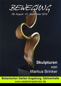 """Plakat zur Ausstellung """"Bewegung"""" im Botanischen Garten Augsburg 2019"""