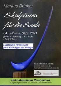 Plakat zur Ausstellun Bewegung im Botansichen Garten Augsburg 2019