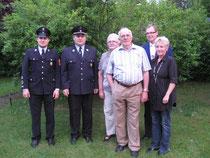 Feuerwehr, FC und Pfarrgemeinderat gratulierten Josef Köring