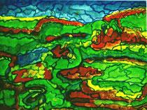 Landschaftsteilung - Aquarell