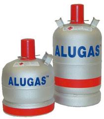 Propangas in Alugas Flaschen 6 kg und 11 kg