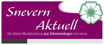 Kopfgrafik der Zeitung Snevern aktuell, gesetzt bei Röben Printmedien in Neuenkirchen