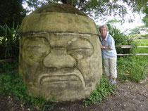 Olmekische Kolossalköpfe ... Die olmekische Zvilisation ist die Mutterkultur Mexicos, war also noch vor den Mayas