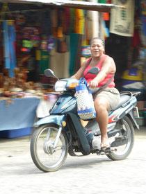 Moped fährt hier fast jeder