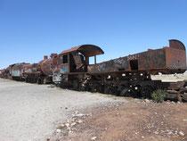 Mit diesen Zuegen wurden vor vielen Jahren die Bodenschaetze insbesondere Silber vom Altiplano an den Pazifik gebracht
