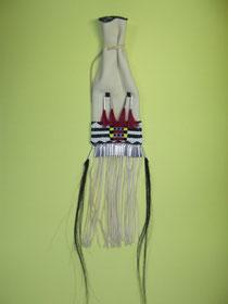 fertiger Indianer Beutel mit Cheyennemuster