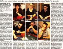 Bericht über unseren Pokerclub in der Heidenheimer Zeitung