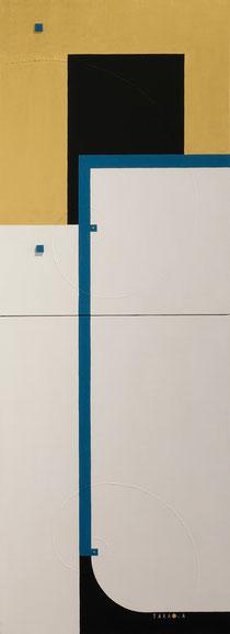 A.I. <KIMONO>  2  333mm×910mm  P8×2   Acrylic, wood   2017