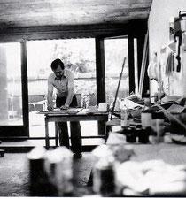 Sergio Emery nel suo atelier