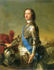 Портрет Петра I, работы Ж.М. Натье.