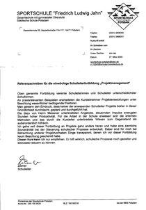 Elite Sportschule Potsdam Schulleiter Hr. Ziemer (Seite 2)