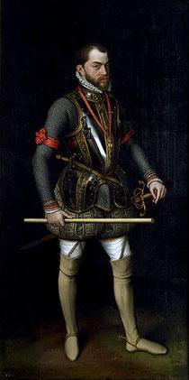 Retrato de Felipe II, por Antonio Moro, San Lorenzo de El Escorial, 1557