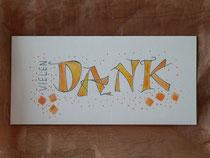 Danke-Karten in Handlettering