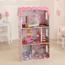 """Matériel de jeux en bois : maison de poupées en bois """"Pénélope"""" kidcraft. Maison en bois de poupées de qualité et à acheter pas cher."""