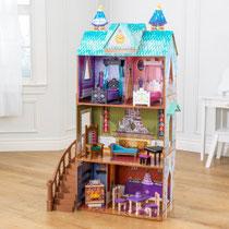 """Matériel de jeux en bois : maison de poupées en bois """"Arendelle Palace Disney® La Reine des neiges"""" kidcraft. Maison en bois de poupées de qualité et à acheter pas cher."""