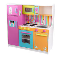"""Matériel de jeux en bois : Cuisine enfants en bois """"Deluxe Big and Bright"""" kidcraft. Cuisine enfants en bois """"Deluxe Big and Bright"""" de qualité et à acheter pas cher."""