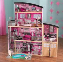 """Matériel de jeux en bois : maison de poupées en bois """"Sparkle Mansion"""" kidcraft. Maison en bois de poupées Sparkle Mansion de qualité et à acheter pas cher."""
