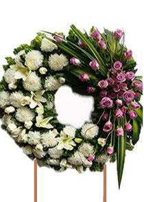 Coronas fúnebres urgentes. Mercado de flores de San ángel