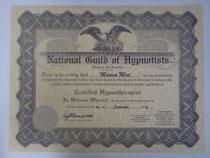 米国催眠士協会(NGH)のセラピスト認定証