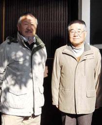 田中次雄さんと八木幹夫さん